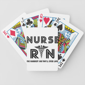 Nurse the hardest job you will ever have bicycle playing cards