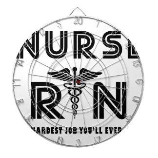 Nurse the hardest job you will ever have dartboard with darts