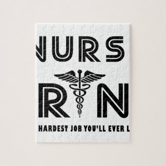 Nurse the hardest job you will ever have jigsaw puzzle