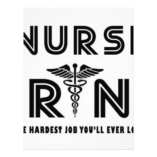 Nurse the hardest job you will ever have letterhead