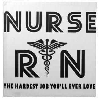 Nurse the hardest job you will ever have napkin