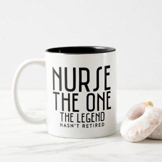 Nurse the one the legend Two-Tone coffee mug
