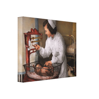 Nurse - The pediatrics ward 1943 Canvas Print