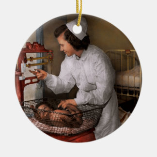Nurse - The pediatrics ward 1943 Ceramic Ornament
