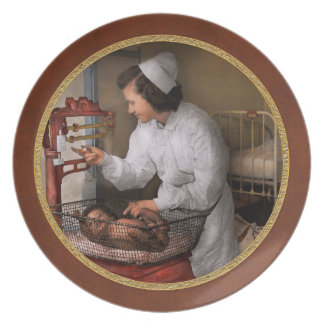 Nurse - The pediatrics ward 1943 Dinner Plate