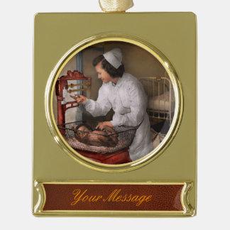 Nurse - The pediatrics ward 1943 Gold Plated Banner Ornament