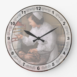 Nurse - The pediatrics ward 1943 Large Clock