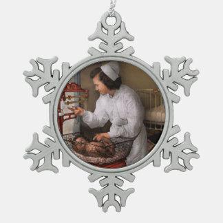 Nurse - The pediatrics ward 1943 Snowflake Pewter Christmas Ornament