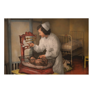 Nurse - The pediatrics ward 1943 Wood Wall Art