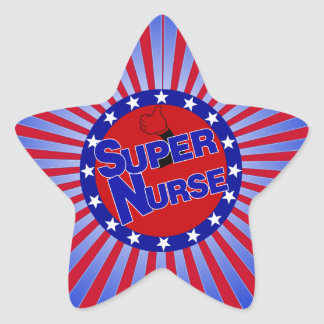 NURSE THUMBS UP SUPER NURSE PATRIOTIC STAR STICKER