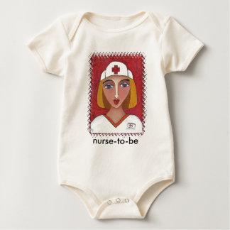 Nurse to be - blonde RN toddle shirt