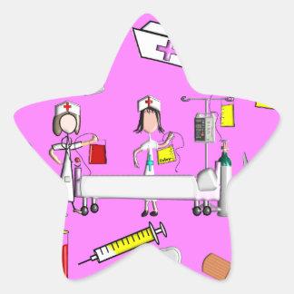 Nurse Tools and Nurse Equipment Star Sticker