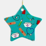 Nurse Tools Double-Sided Star Ceramic Christmas Ornament