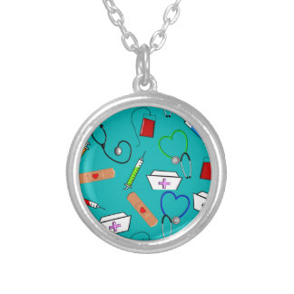 Nurse Tools Silver Plated Necklace