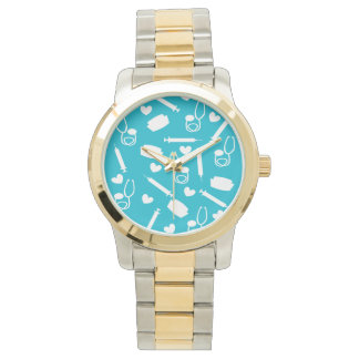 Nurse Tools Watch Two Tone in Blue
