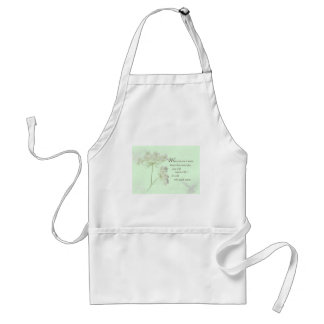 Nurse Touch a Life With Wild Flowers Adult Apron