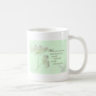Nurse Touch a Life With Wild Flowers Coffee Mug