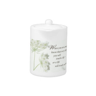 Nurse Touch a Life With Wild Flowers Teapot