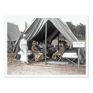 Nurse Trainees Sitting in a Tent 5.5x7.5 Paper Invitation Card