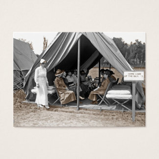 Nurse Trainees Sitting in a Tent Business Card