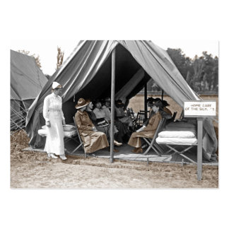 Nurse Trainees Sitting in a Tent Large Business Card