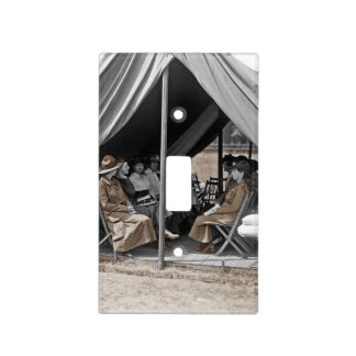 Nurse Trainees Sitting in a Tent Switch Plate Covers