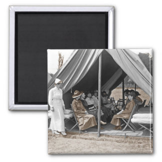 Nurse Trainees Sitting in a Tent Refrigerator Magnet