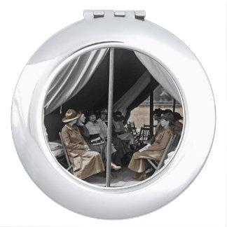 Nurse Trainees Sitting in a Tent Vanity Mirror