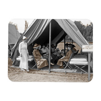 Nurse Trainees Sitting in a Tent Vinyl Magnets