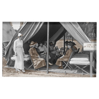 Nurse Trainees Sitting in a Tent Table Card Holder