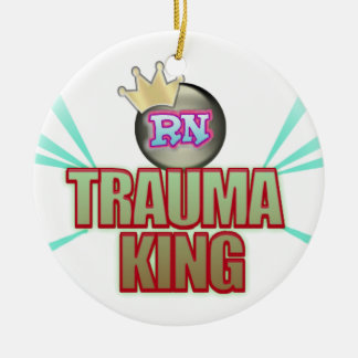 NURSE TRAUMA KING CHRISTMAS ORNAMENT  RN MALE