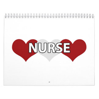 Nurse Triple Heart Calendar