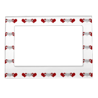 Nurse Triple Heart Magnetic Photo Frame