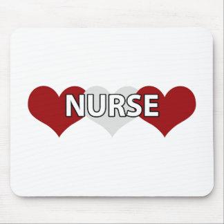 Nurse Triple Heart Mouse Pad