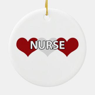 Nurse Triple Heart Ornament