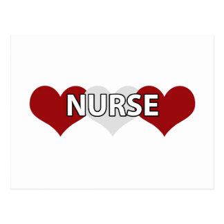 Nurse Triple Heart Postcard