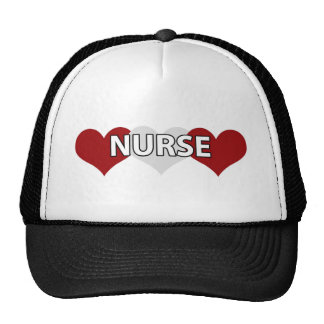 Nurse Triple Heart Trucker Hat