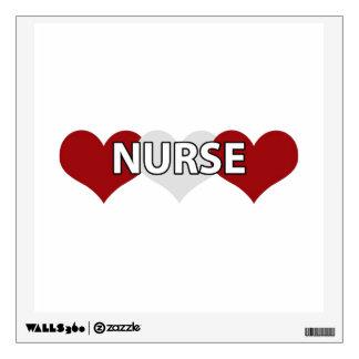 Nurse Triple Heart Wall Stickers