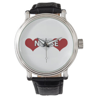 Nurse Triple Heart Wrist Watch