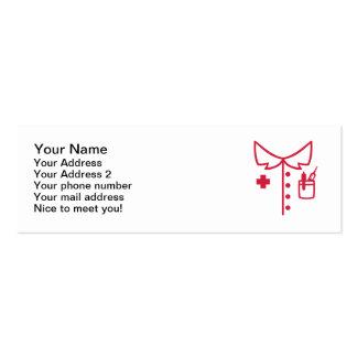 Nurse uniform business card