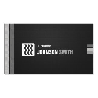 Nurse - Urban Black White Double-Sided Standard Business Cards (Pack Of 100)