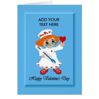 Nurse/Valentine's Day - Custom/Add Your Text Card