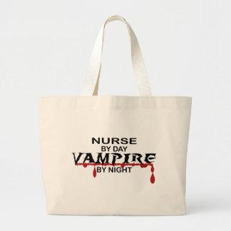 Nurse Vampire by Night Tote Bags