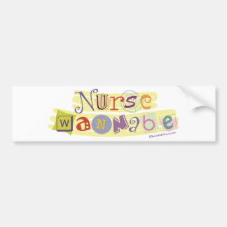 Nurse Wannabe Bumper Sticker