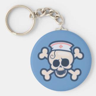 Nurse Wenchet Basic Round Button Keychain