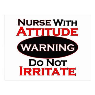 Nurse With Attitide Postcard