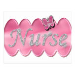 Nurse With Butterfly Postcard