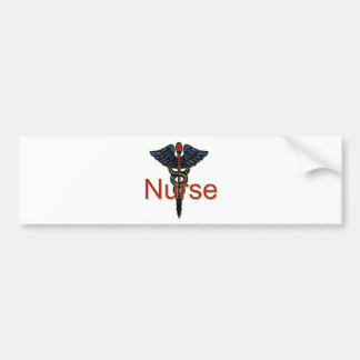 Nurse with Caduceus Bumper Sticker