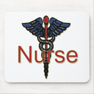 Nurse with Caduceus Mouse Pad