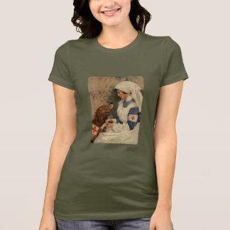 Nurse with Golden Retriever Vintage WW1 T-Shirt